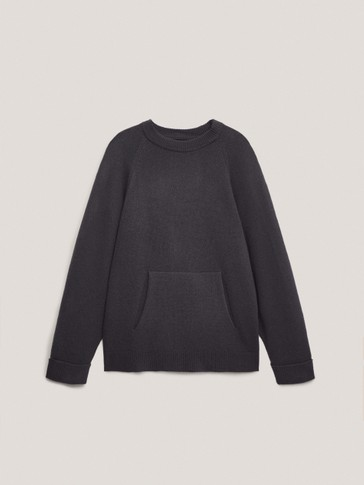 Oversize-sweater med lomme