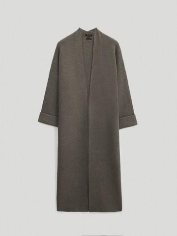 Long knit coat