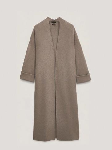 معطف طويل محبوك
