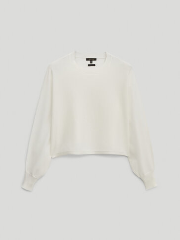 Pull cropped en maille