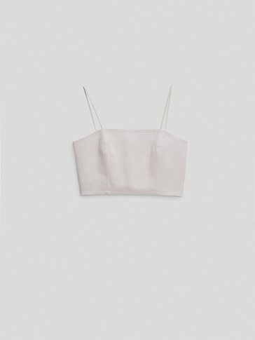 100% linen strappy top - Limited Edition