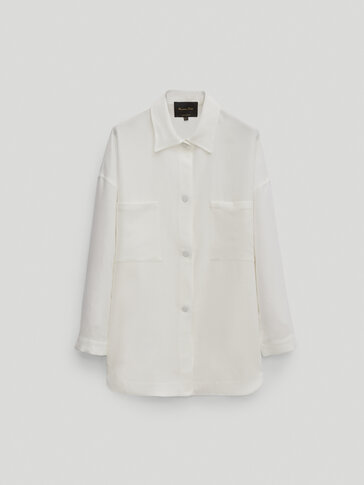 Overshirt with patch pockets