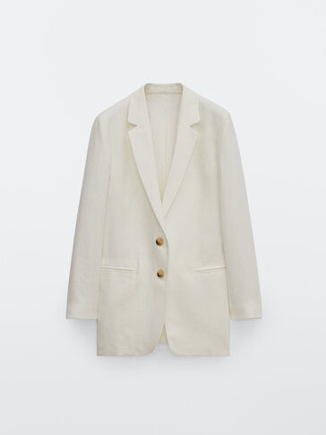 100% linen blazer