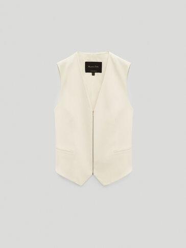 Waistcoat with zip