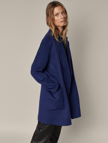 Handcrafted, short wool coat