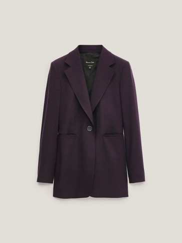 Single-button wool blazer