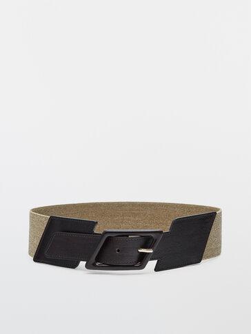 Cinturón hebilla rombo