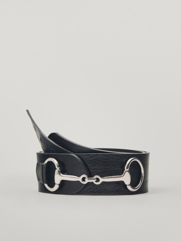 Calfskin leather double-jointed bit belt