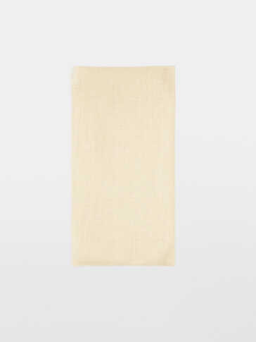 Fular liso 100% lino