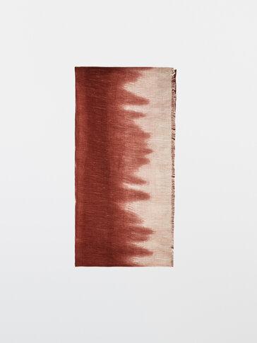 Linen modal print scarf
