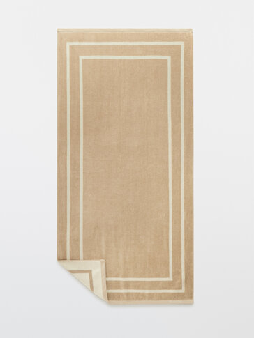 Large cotton bath towel
