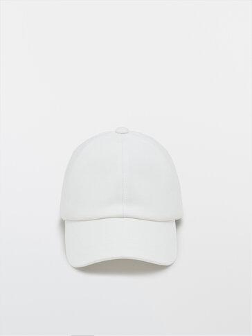 Cotton cap with logo detail
