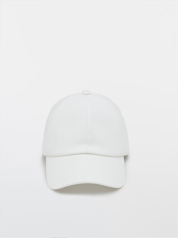 Cotton cap with logo detail