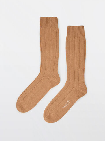 Cashmere wool socks