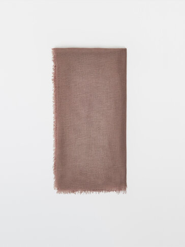Cashmere, wool and silk scarf