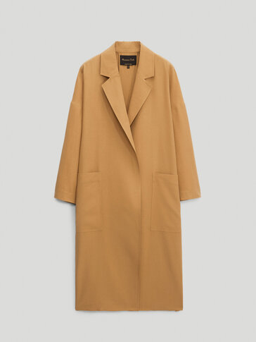 Lyocell and linen blend coat