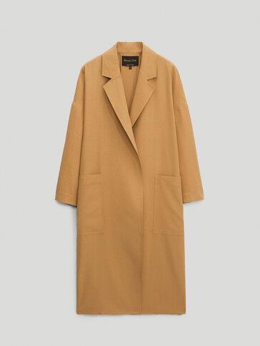 Linen lyocell trench jacket