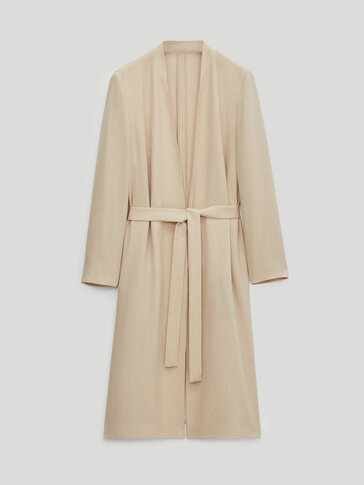 Long dust-bag-style coat