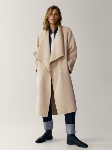 100% wool hand-tailored coat