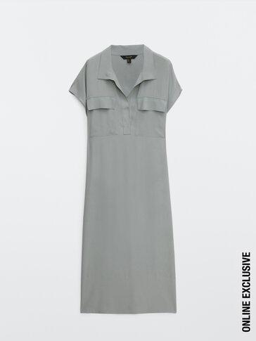 Flowing short sleeve dress