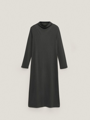Long sleeve high neck dress