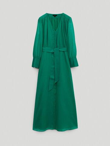 فستان قفطان طويل