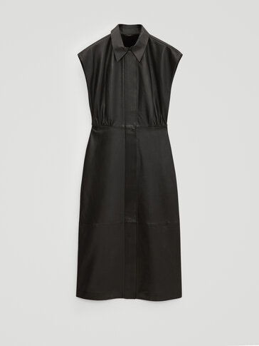 Black nappa leather dress - Limited Edition