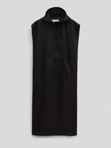 Vestido 100% lino con capucha Limited Edition