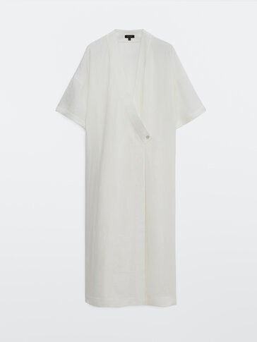 Vestido cruzado 100% lino