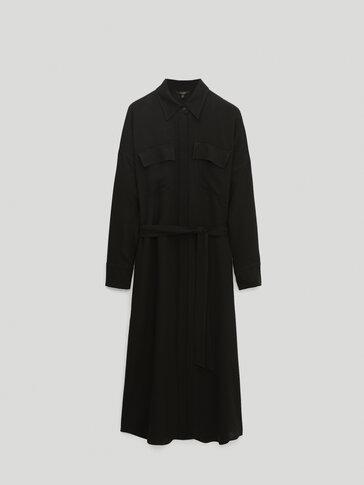 Дълга рокля тип риза
