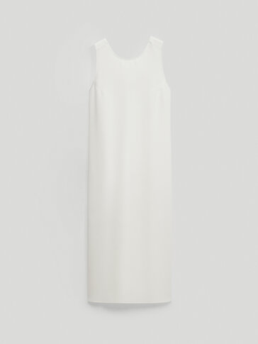 Dress with crossed back