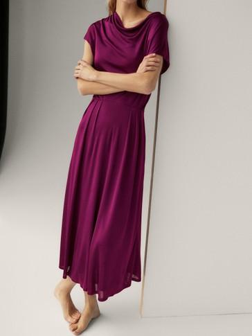 Vestido largo drapeado