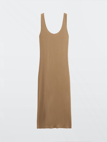 Long strappy lyocell dress