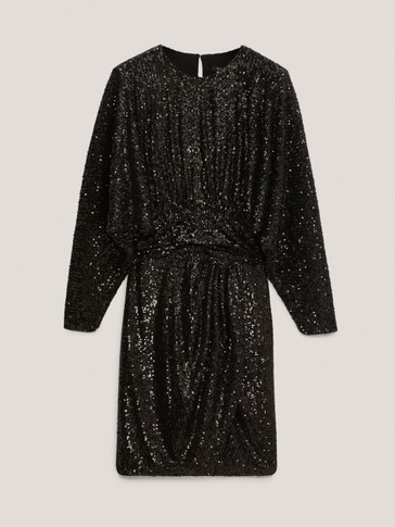 Black sequinned dress
