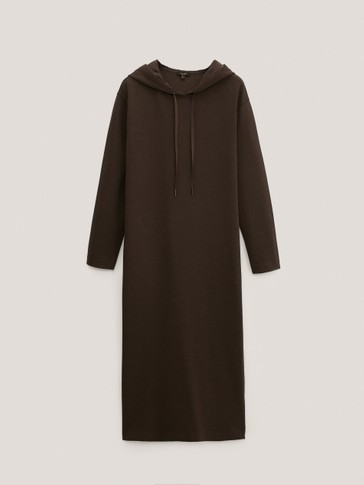 Hooded jogging dress