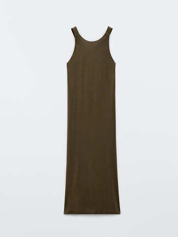 Long strappy lyocell dress