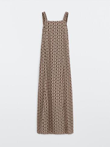 Lange jurk met geometrische print