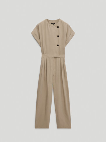 Jumpsuit with side buttons