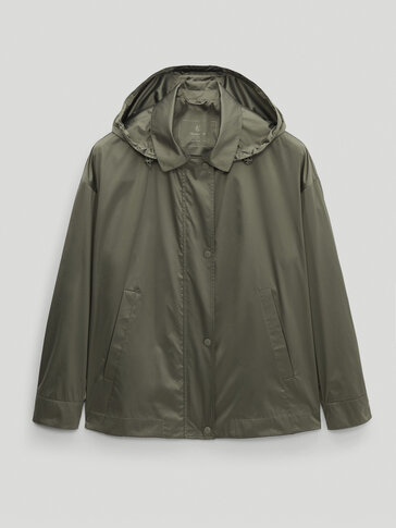 Cropped technical parka with vents