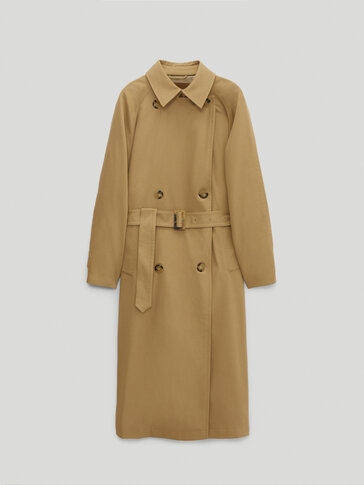 Oversize cotton and lyocell trench coat