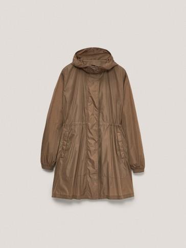 Lange Jacke im Parka-Stil