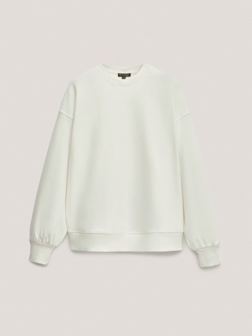 Crew neck cotton hoodie