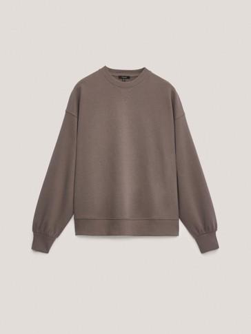 Pamučna sweater majica okruglog ovratnika