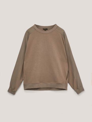 Sweatshirt in contrasting fabric