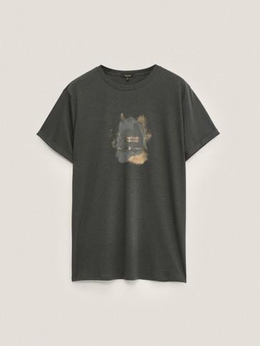 Camiseta texto manga corta