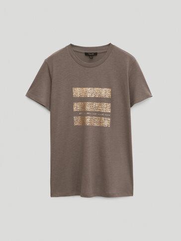Kurzärmeliges Shirt aus Lyocell und Baumwolle