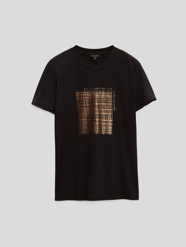 Lyocell and cotton short sleeve T-shirt