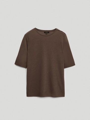 Camiseta botones algodón lyocell