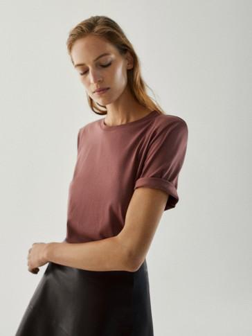 Majica od 100 % pamuka s jastučićima za ramena