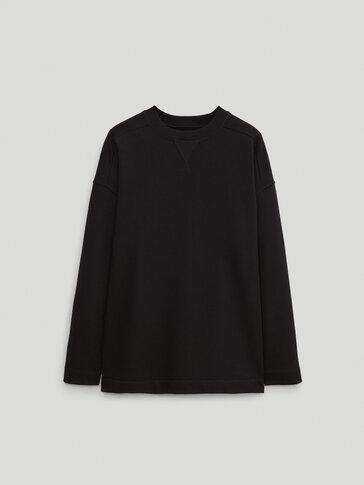 Katoenen sweatshirt met ronde hals